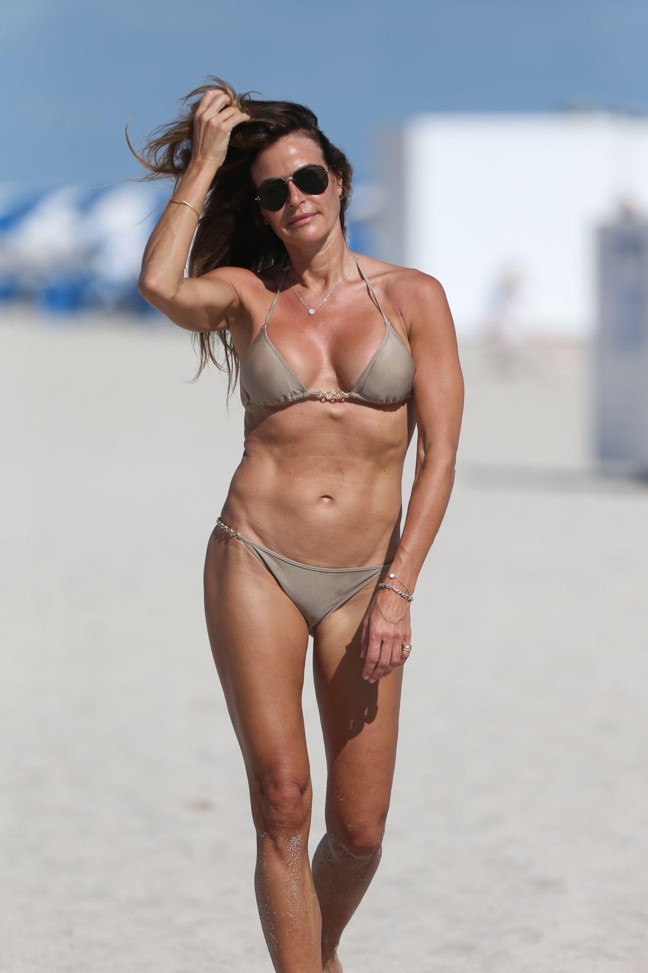 Kelly Bensimon in a Metallic Bikini 01/01/2019