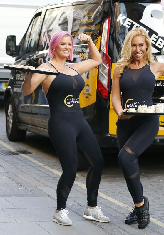 Kerry Katona Helps Amipka Pickston Launch Her New Weight Control Programme Skinny Revolution in London