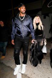 Khloe Kardashian and Tristan Thompson at Craig