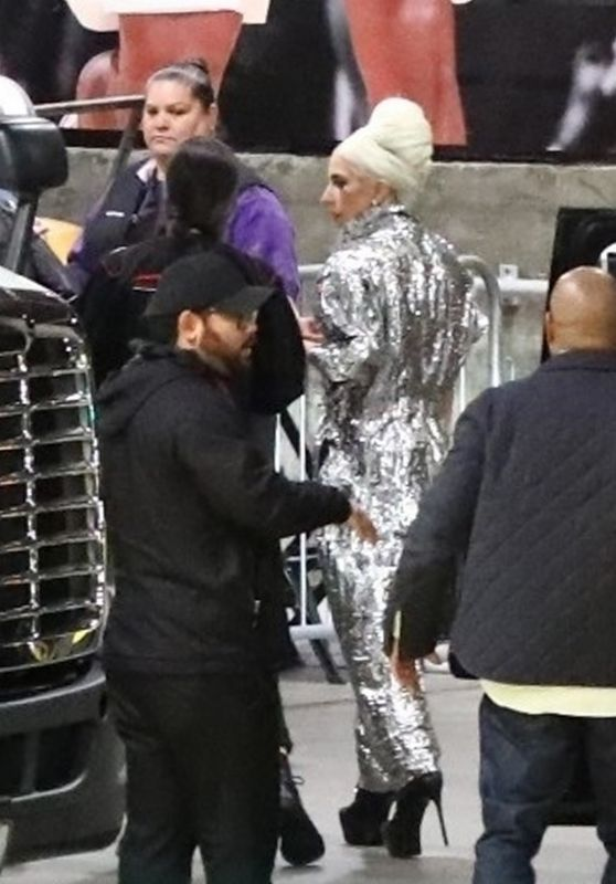 Lady Gaga - Arrive at the Elton John Concert in Los Angeles 01/25/2019