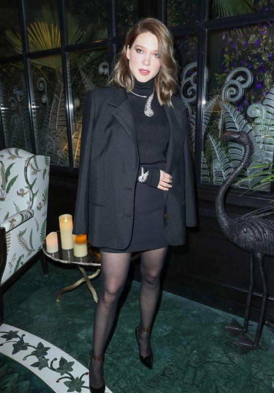 Lea Seydoux at Boucheron Cocktail Party in Paris 01/20/2019
