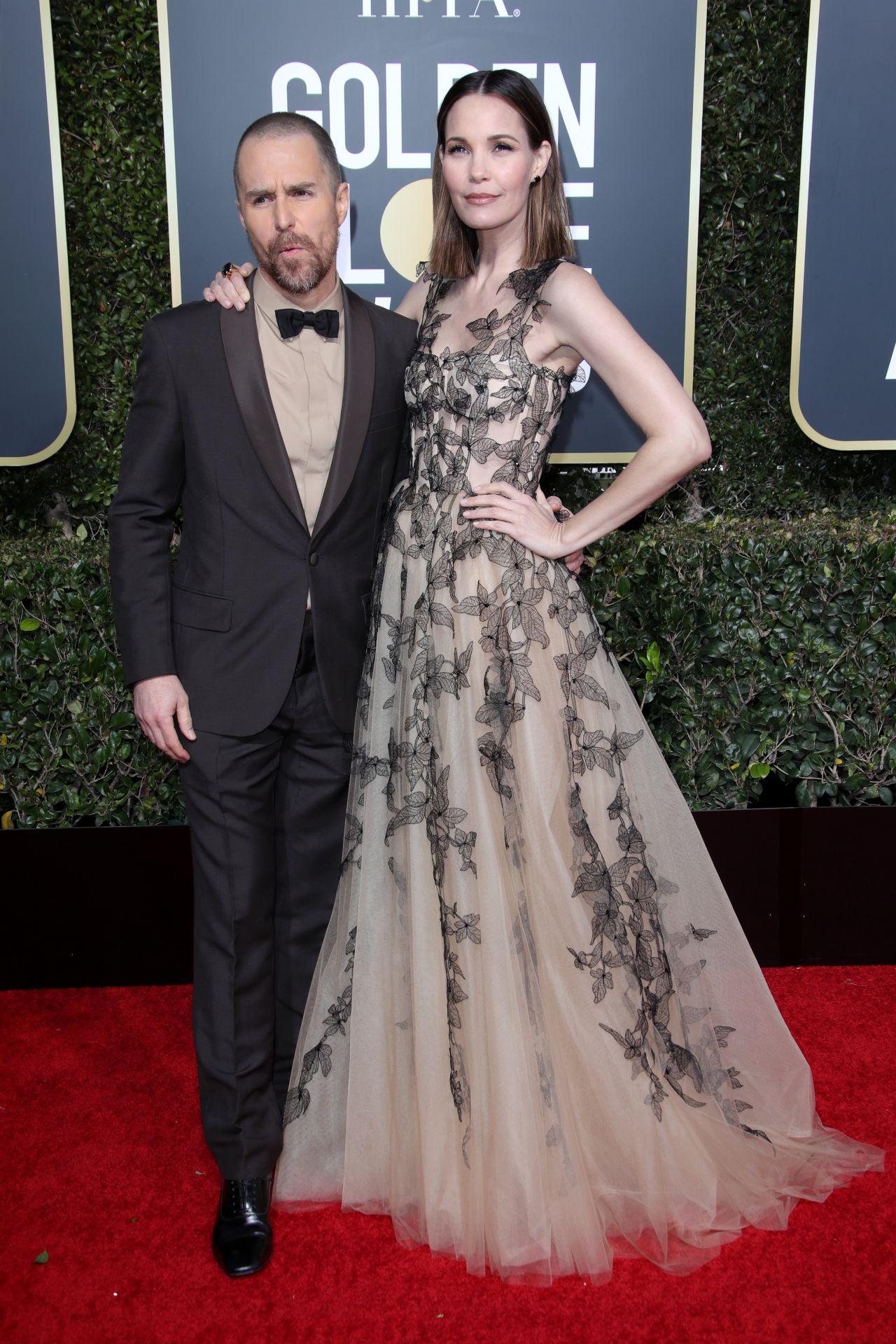 Leslie Bibb 2019 Golden Globe Awards Red Carpet