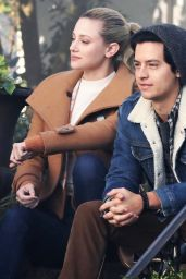 """Lili Reinhart and Cole Sprouse - """"Riverdale"""" Set in Vancouver 01/16/2019"""