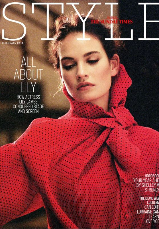 Lily James - Sunday Times Style January 2019