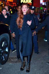 Lindsay Lohan - Leaving MTV Studios in NYC 01/04/2019