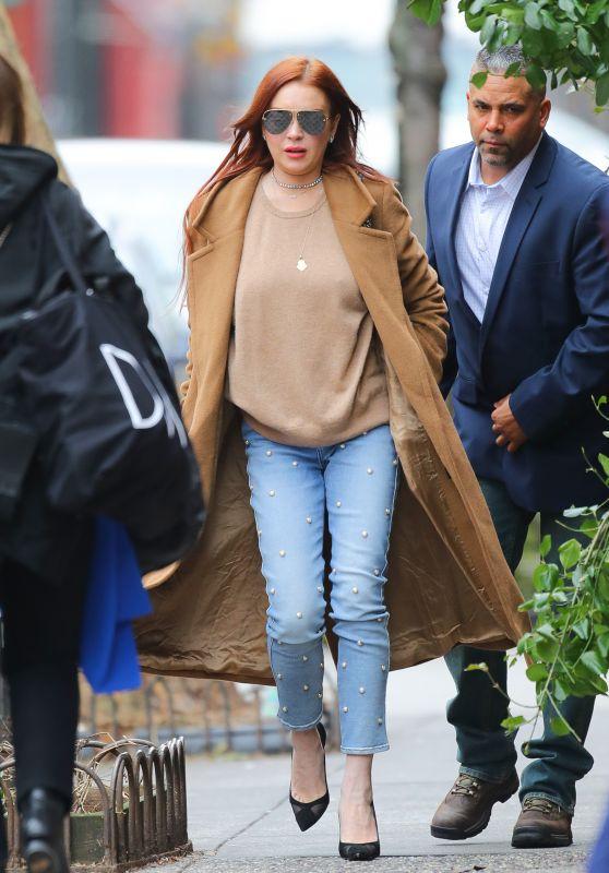 Lindsay Lohan Street Style 01/10/2019