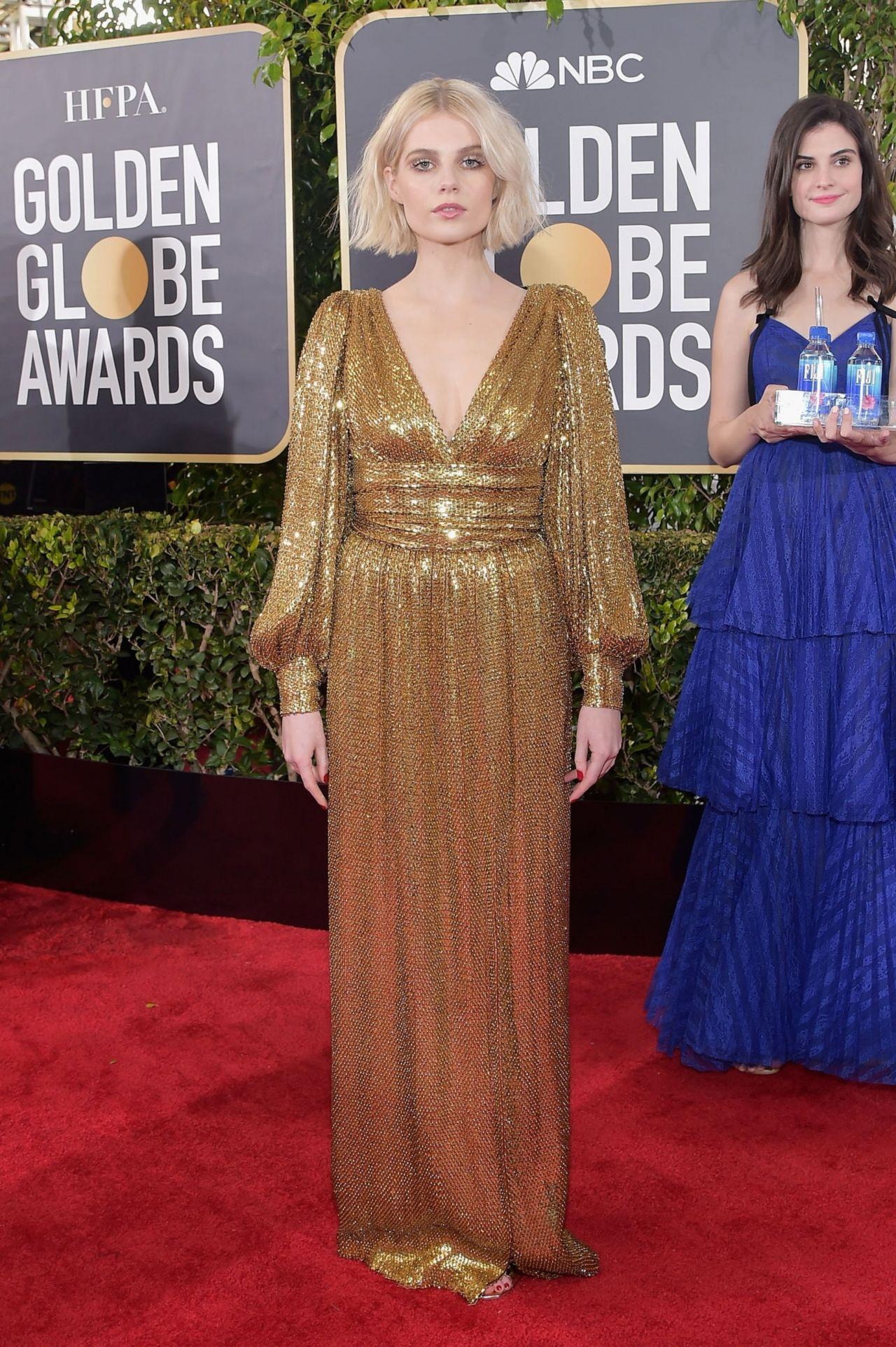 Lucy Boynton 2019 Golden Globe Awards Red Carpet