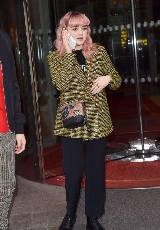 Maisie Williams - Royal Monceau Hotel in Paris 01/20/2019