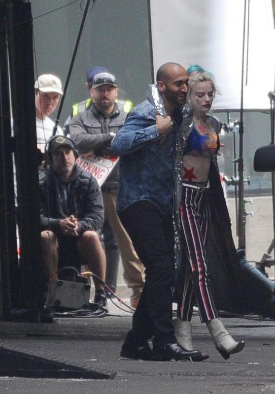 """Margot Robbie - Filming """"Birds Of Prey"""" in LA 01/28/2019"""