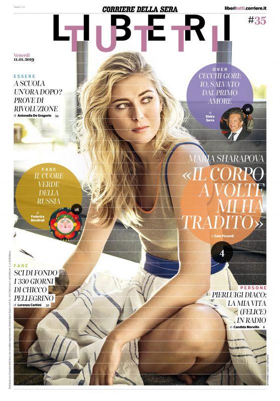 Maria Sharapova - Corriere della Sera Liberi Tutti January 2019 Issue