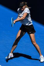 Maria Sharapova - Practicing in Melbourne 01/11/2019
