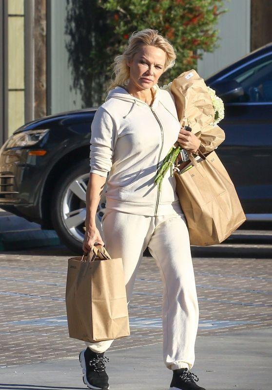 Pamela Anderson in Tracksuit 01/21/2019