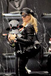 Paris Hilton - Shopping at Philipp Plein Boutique in Milan 01/11/2019
