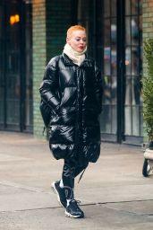 Rose McGowan Winter Street Style 01/23/2019
