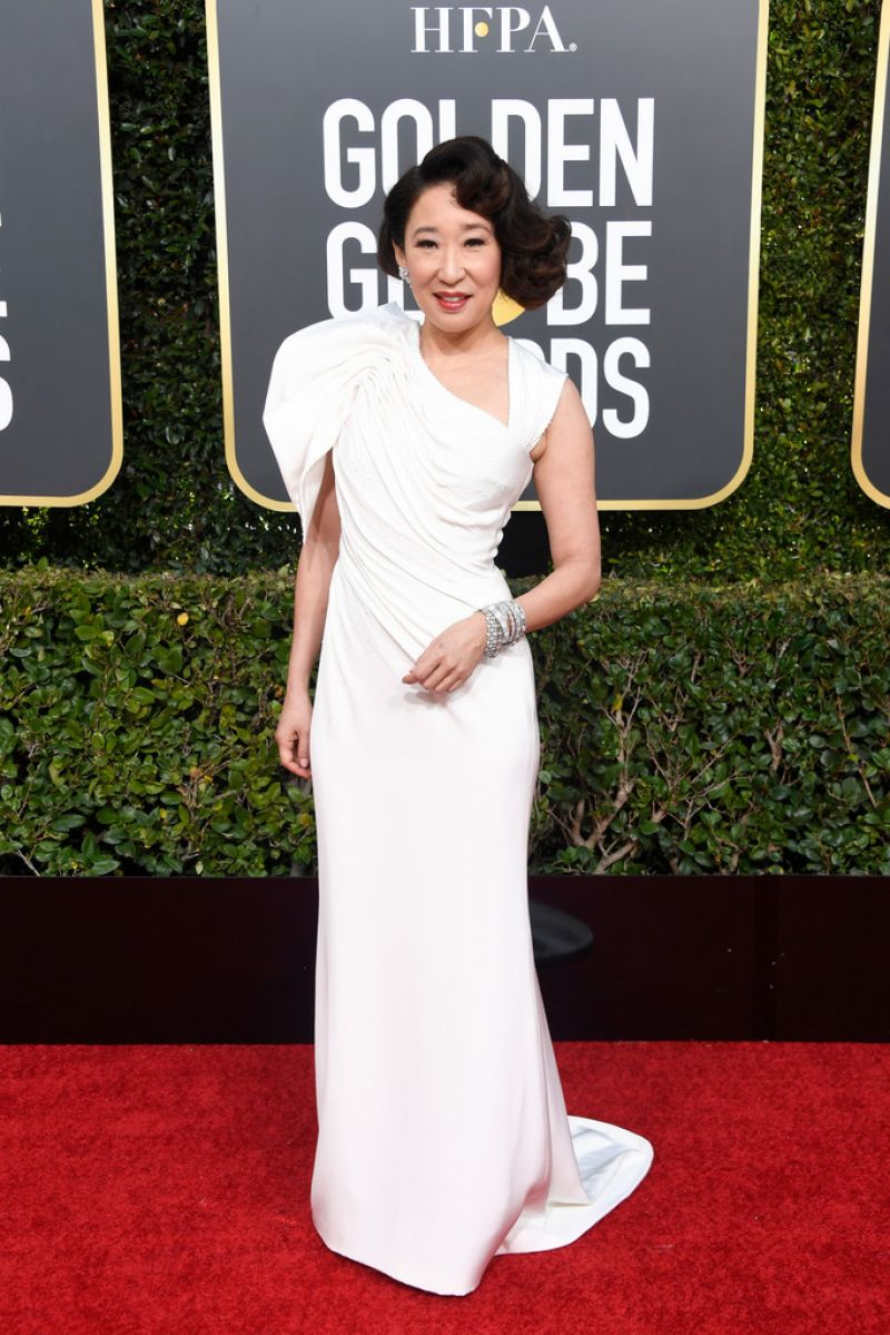 Sandra Oh 2019 Golden Globe Awards Red Carpet