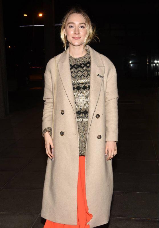 Saoirse Ronan - Outside The Late Late Show in Dublin 01/11/2019
