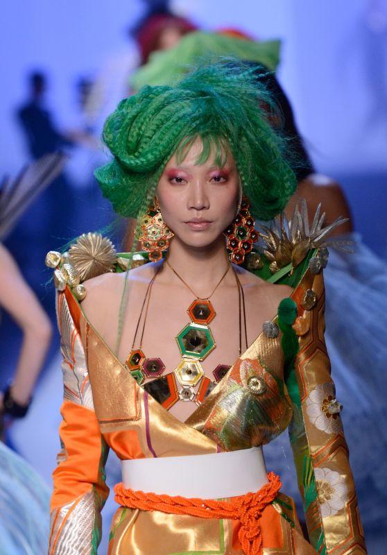 Soo Joo Park Walks Jean Paul Gaultier Fashion Show in Paris 07/04/2018