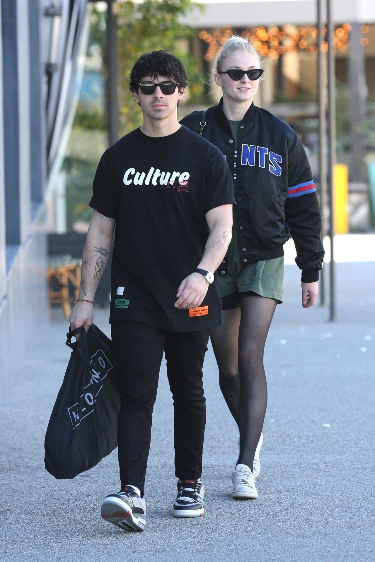 Sophie Turner And Joe Jonas Shopping At Lorenzo In West