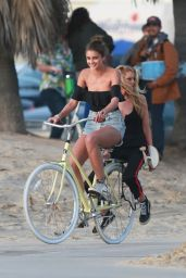 Stella Maxwell and Taylor Hill – Victoria's Secret Shooting in Venice Beach 01/16/2019
