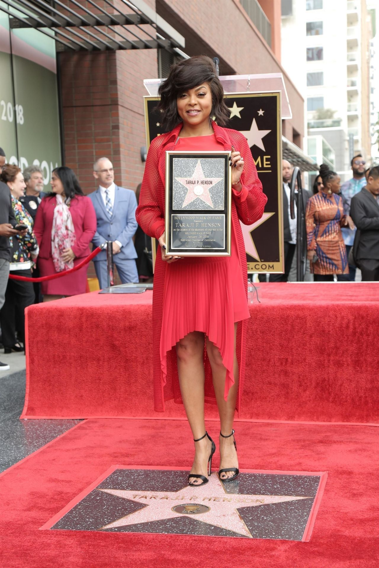 Taraji P Henson Honored With Asstar On The Hollywood