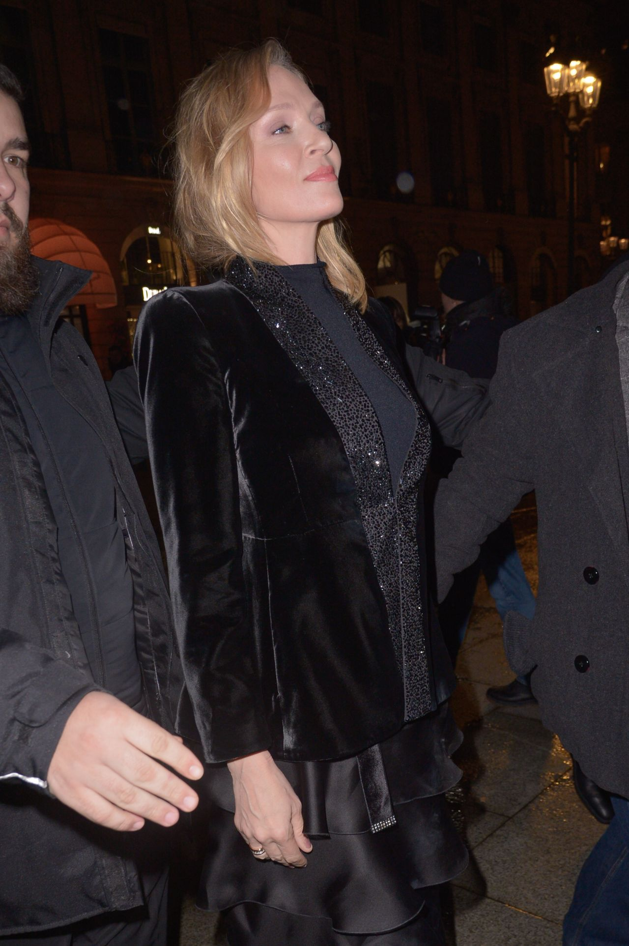 Uma Thurman Giorgio Armani Fashion Show In Paris 01 22 2019