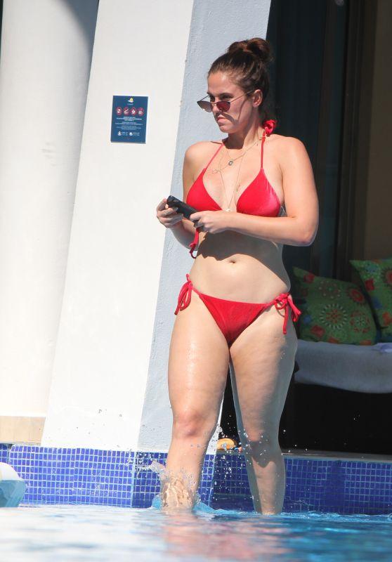 Vicky Pattison in a Red Bikini 01/08/2019