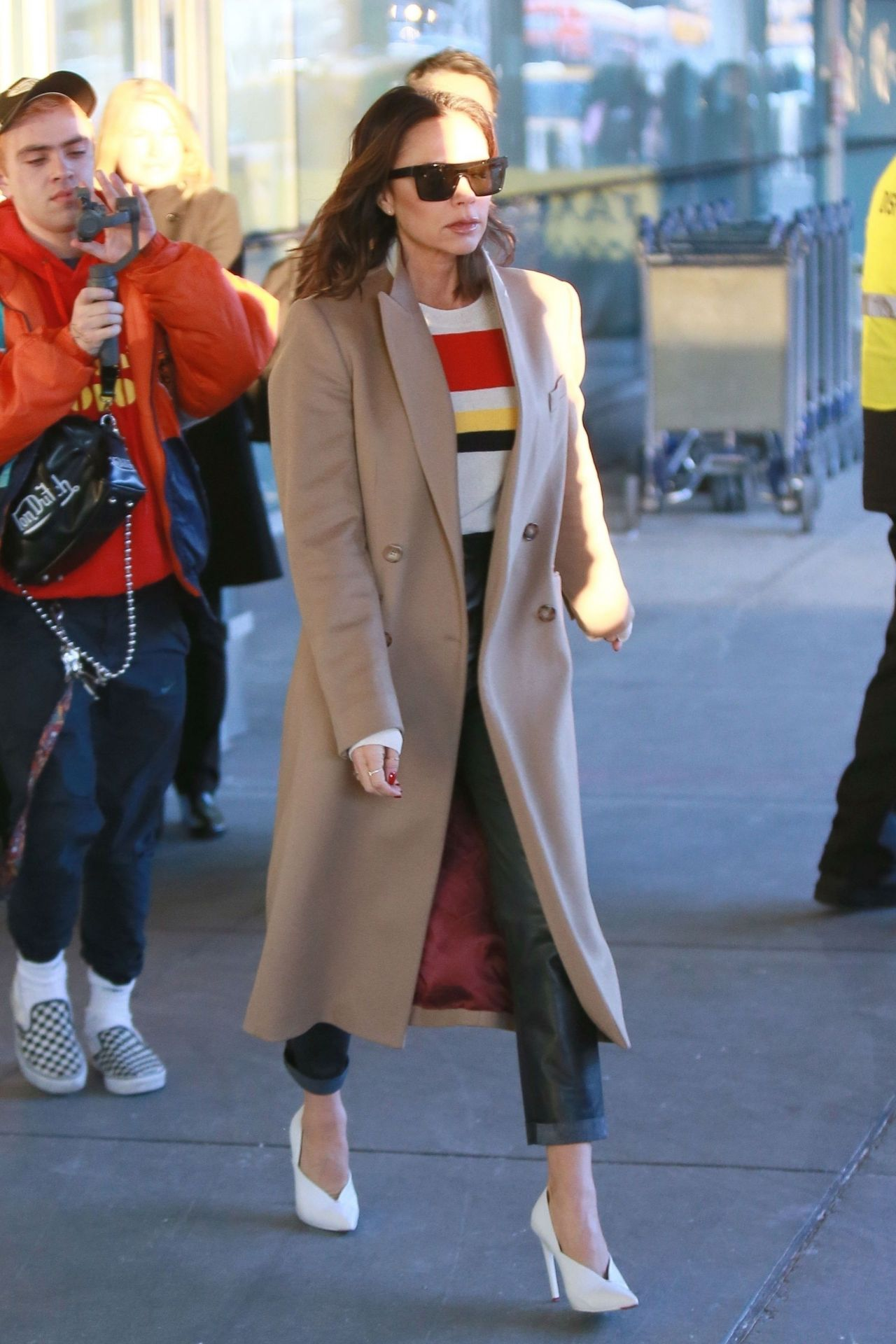 Victoria Beckham At Jfk Airport In Ny 01 21 2019