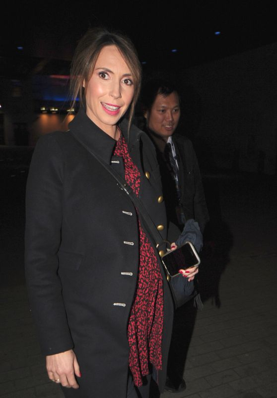Alex Jones - The One Show at BBC Studios in London 02/13/2019