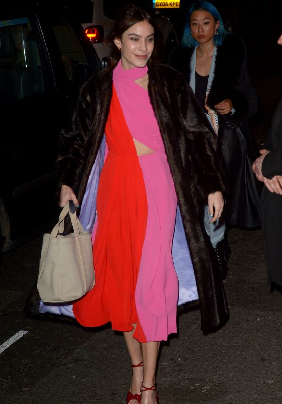 Alexa Chung Night Out Style - Marks Club in London 02/17/2019
