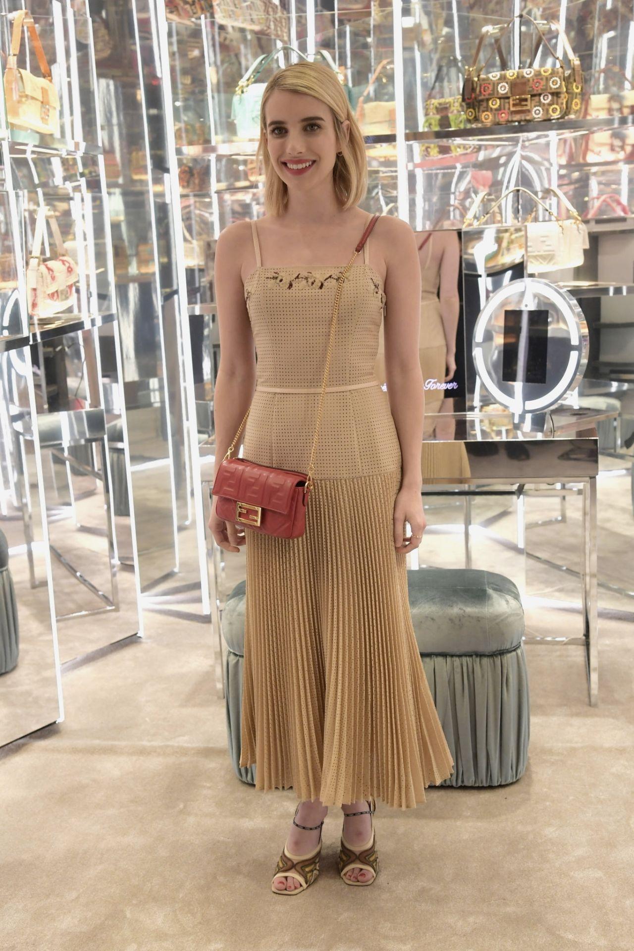 Amanda Seyfried And Emma Roberts Fendi Celebrates