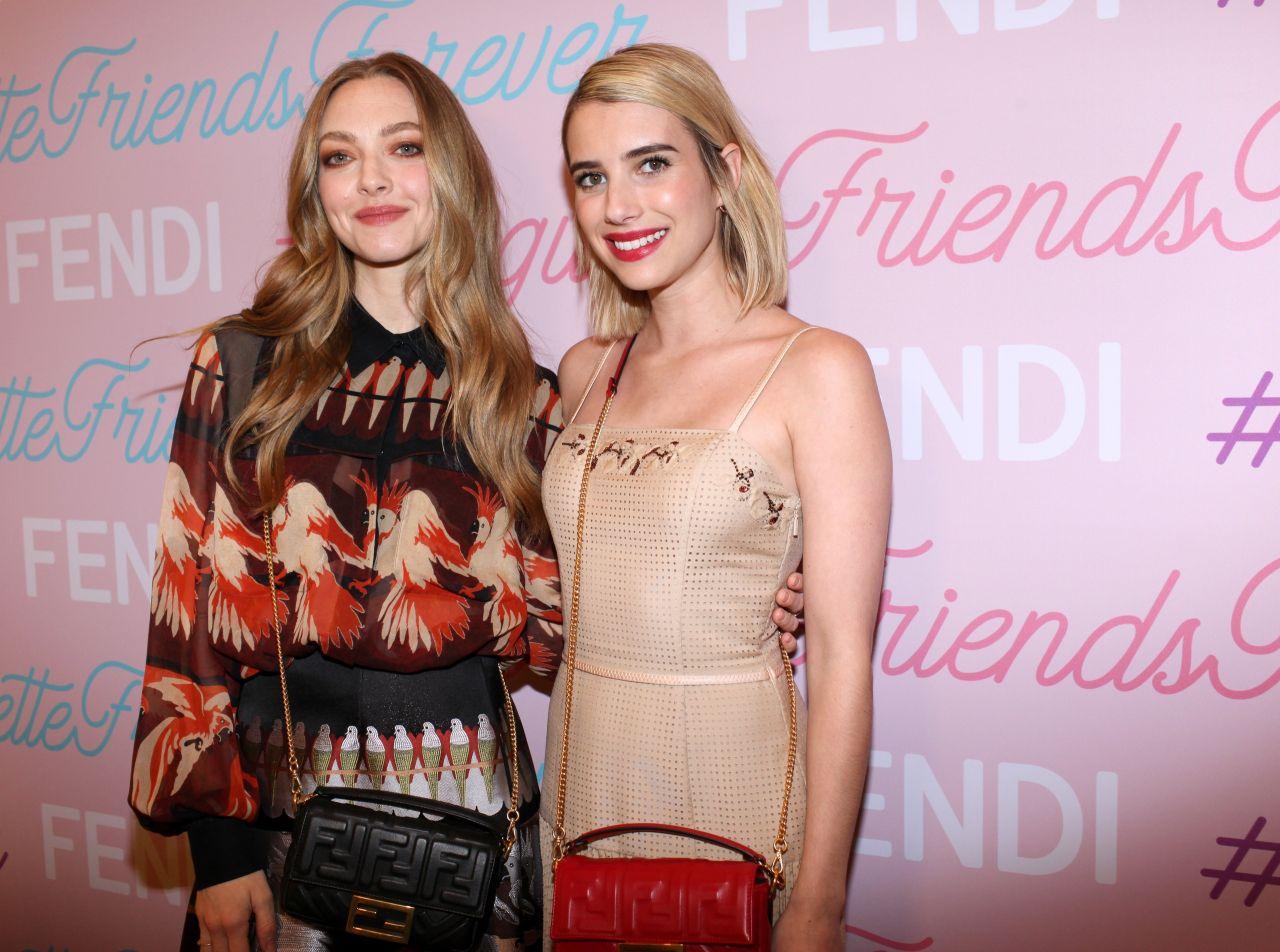 Amanda Seyfried and Emma Roberts - Fendi Celebrates Baguette
