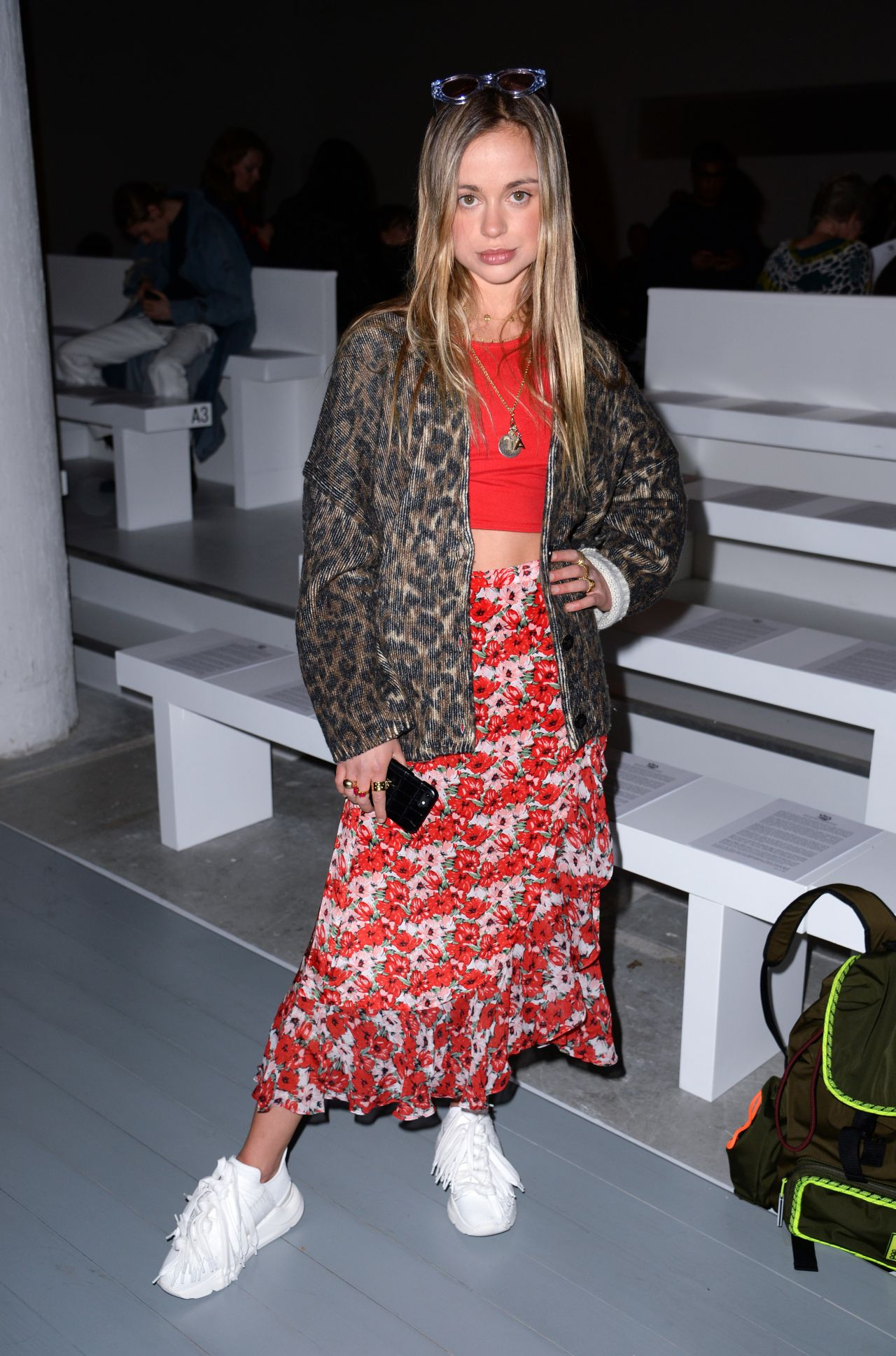 54e216abb Amelia Windsor – Matty Bovan Fashion Show, London Fashion Week 02/15/2019
