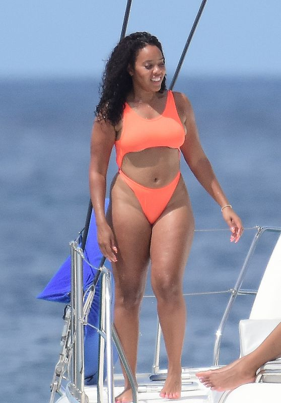 Angela Simmons in Bikini - Barbados 02/07/2019