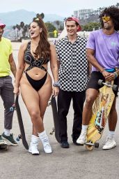 Ashley Graham in a Retro Swimsuits 02/05/2019