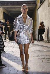 Bar Refaeli – Leaving the Byblos Fashion Show in Milan 02/20/2019