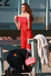 Barbara Fialho - Photoshoot for Tommy Hilfiger campaign, Venice Beach 02/07/2019