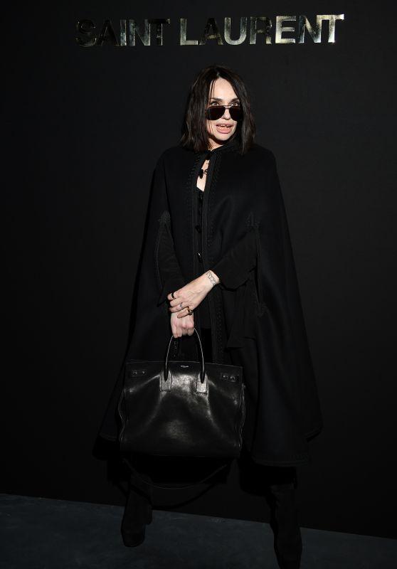 Beatrice Dalle – Saint Laurent Fashion Show in Paris 02/26/2019