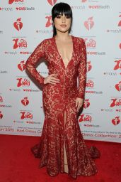 Becky G – Go Red For Women Red Dress Collection 2019 in NYC