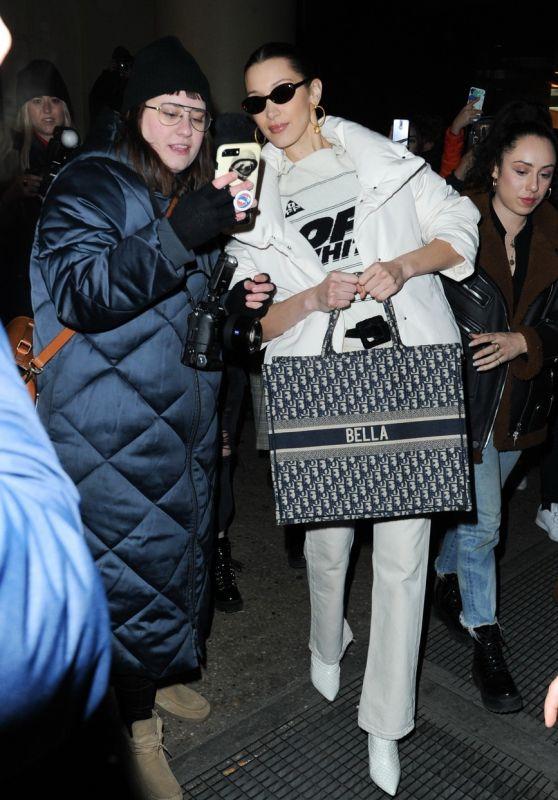 Bella Hadid - Leaving Brandon Maxwell Show in NYC 02/09/2019
