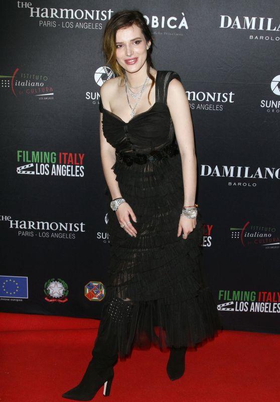 Bella Thorne - Filming Italy Awards in LA 01/31/2019