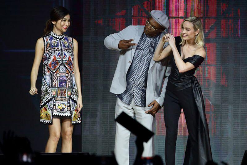 Brie Larson Captain Marvel Talent Tour Fan Event In