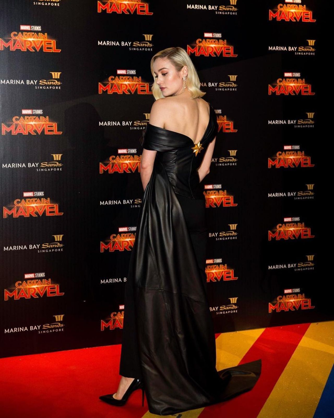 Brie Larson Captain Marvel Talent Tour Fan Event In