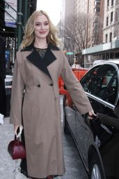 Caitlin Fitzgerald Shows Off Her Eclectic Style - Outside BUILD Series in NYC 02/01/2019