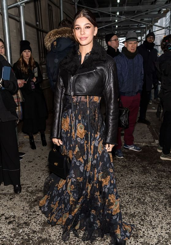 Camila Morrone – Outside the Coach Fashion Show in New York City 02/12/2019