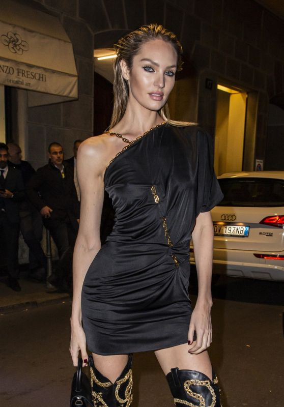 Candice Swanepoel - 2019 Fall Versace Dinner Party in Milan