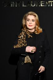 Catherine Deneuve – Saint Laurent Fashion Show in Paris 02/26/2019