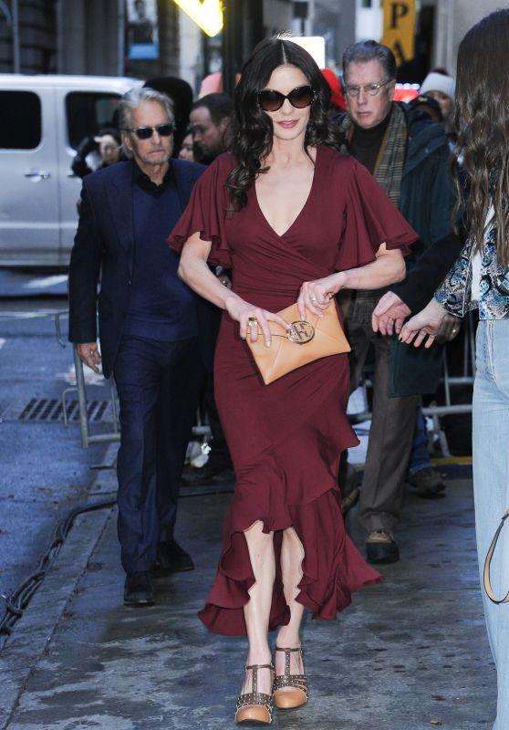 Catherine Zeta-Jones and Michael Douglas - Leave Michael Kors Fashion Show in NYC 02/13/2019