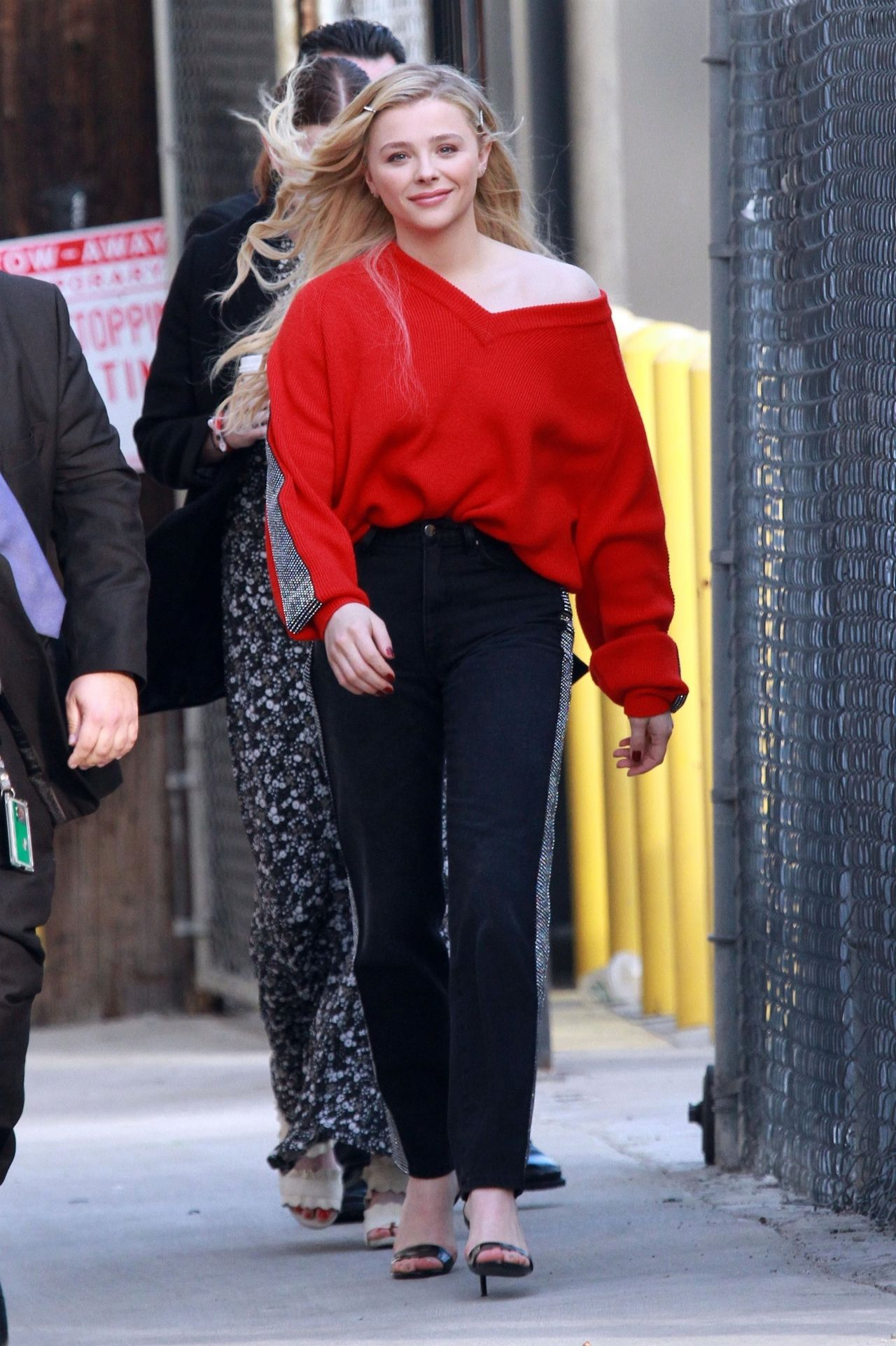 Chlo 235 Grace Moretz Outside Jimmy Kimmel Live In