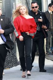 Chloë Grace Moretz - Outside Jimmy Kimmel Live! in Hollywood 02/26/2019