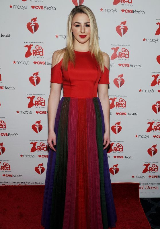 Chloe Lukasiak – Go Red For Women Red Dress Collection 2019 in NYC